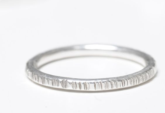 Ringe - Stapelring Stacking Ring 925er Silber geschmiedet - ein Designerstück von Werkart bei DaWanda