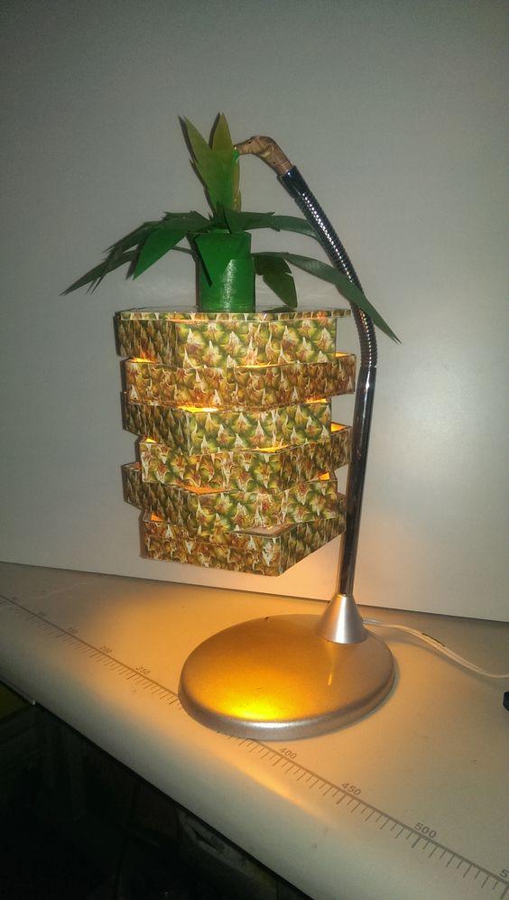 lampara textura de piña
