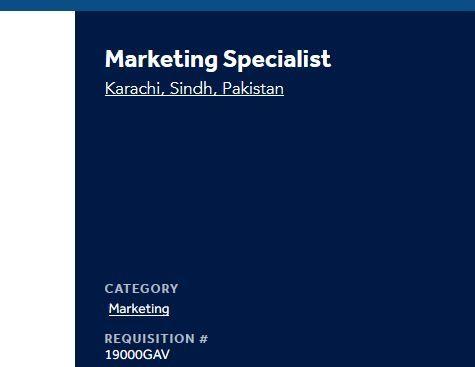 Marketing Specialist Jobs In Medtronic Sept 2019 Online Careers Job Jobs In Pakistan