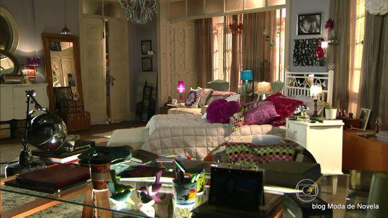 moda da novela Em Família - decoração do quarto da Gisele