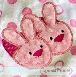 Bunny Slippers Applique - 3 Sizes!   Easter   Machine Embroidery Designs   SWAKembroidery.com Lynnie Pinnie