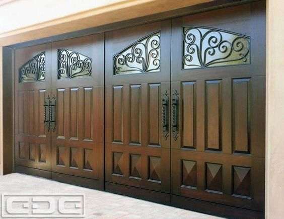 Exterior design solid garage door design with windows for Cool door ideas