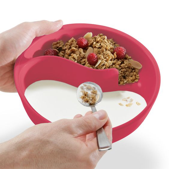 the Never-Soggy Cereal Bowl! I need this, who like soggy cereal?!