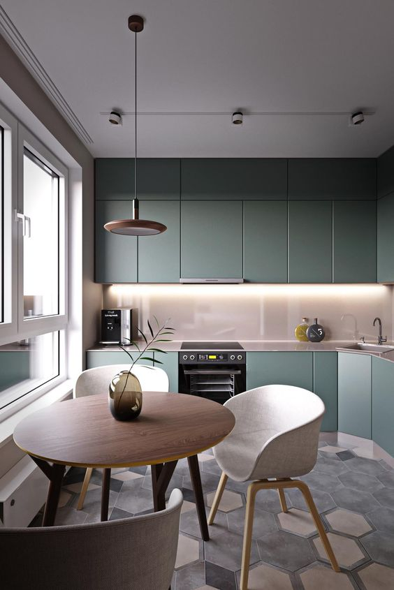 Pure Colorful Kitchens