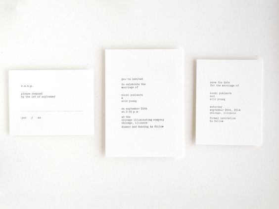 Typewriter Letterpress Wedding Invitation Hand by seabornpress
