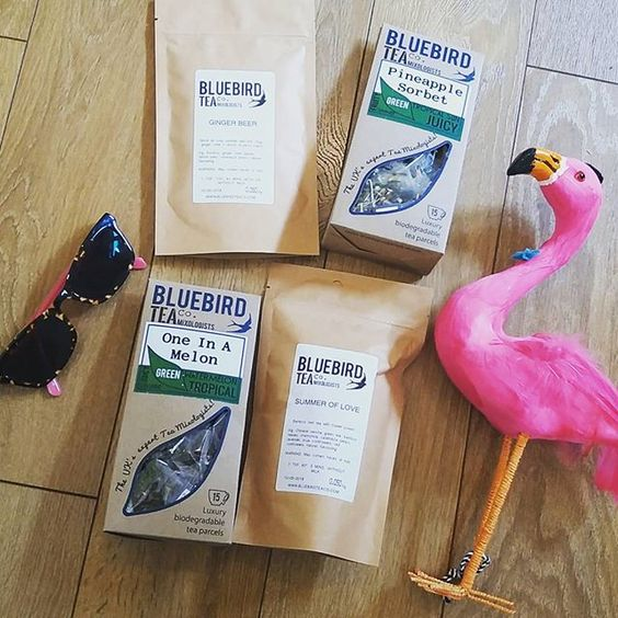 Also excited (as is Fernando the flamingo) about @bluebirdteaco's summer offerings- lots of lovely green teas (which are my go to in the warmer weather) and a zingy rooibos. Yum. #teablog #tea #summer #flamingo