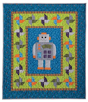 Robot-O-Matic Baby Quilt Pattern Download from ConnectingThreads.com