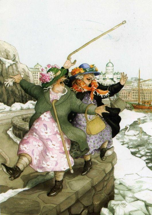A két bohókás anyóka őszi - téli kalandjai - Inge Löök ecsetje nyomán