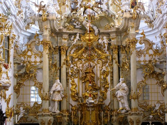 Baroque church google search medieval pinterest for Baroque style church