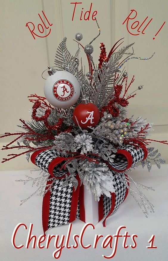 Wreath,Bama Wreath Box,Roll Tide Roll Table Decor,Bama Tailgate Party Gift,Small Bama Centerpiece,Bama Gift Box, by CherylsCrafts1 on Etsy