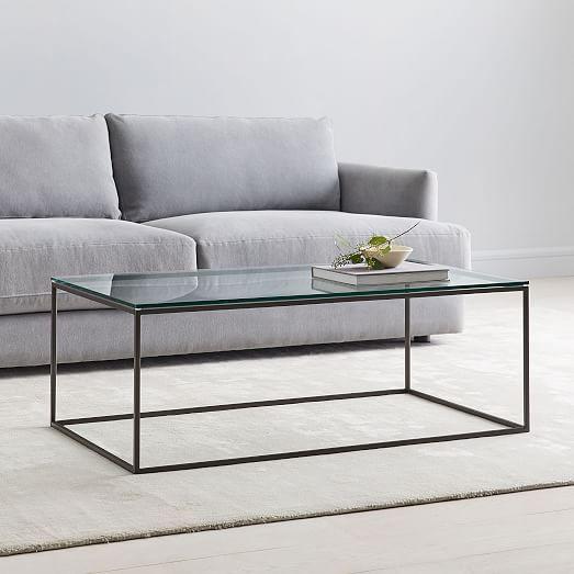 Streamline Coffee Table Glass Metal Coffee Table Glass Coffee Table West Elm Coffee Table