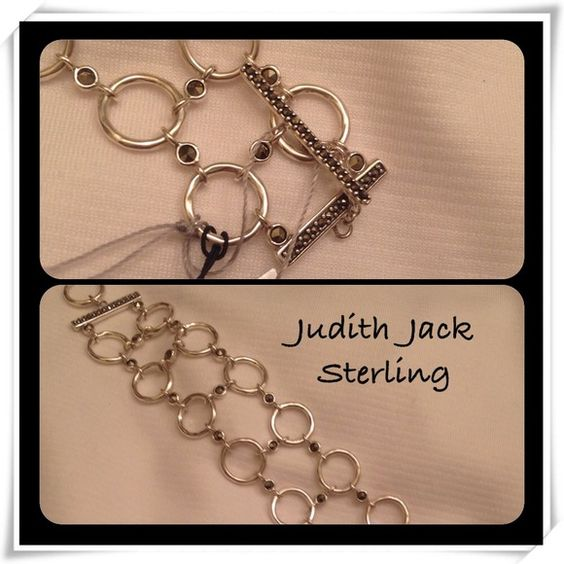 Judith Jack Sterling/Swarovski/ Marcasite Bracelet Beautiful and Classy Judith Jack Sterling Silver Bracelet has Marcasite and Swarovski Crystals. It has a toggle closure. The two rows make it look substantial and yet feminine. Judith Jack Jewelry Bracelets