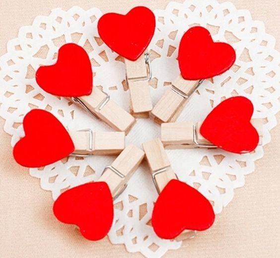 Mini Prendedor Coração vermelho