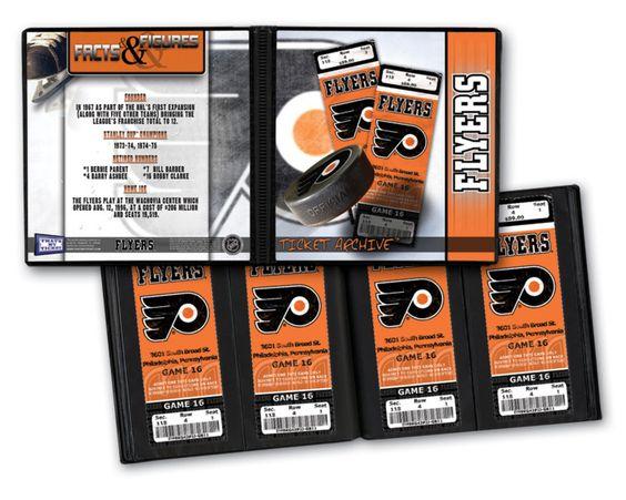 Ticket Album NHL - Philadelphia Flyers (Holds 96 Tickets)
