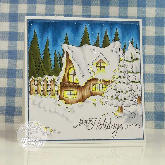 Craftybit: Make It Colourful December Challenge - Glistening Snow