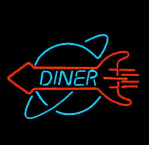 50's Rocket Diner Sign