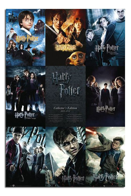 Harry Potter Collection Large Maxi Wall Poster New Laminated Available Harry Potter All Movies Harry Potter Collection Harry Potter Movie Posters