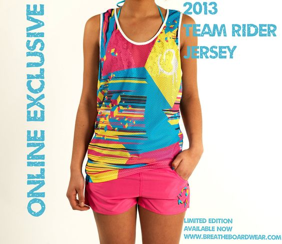 New Team Riders jersey now online!  Available now: www.breatheboardwear.com