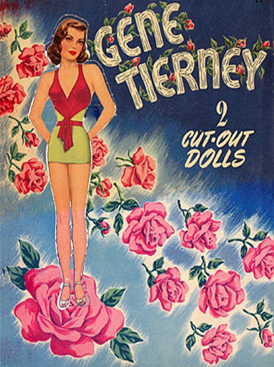 Gene Tierney cut-out dolls