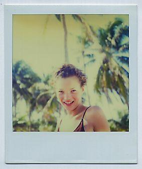 Hair by #OdileGilbert #personal #archive #Polaroid #KateMoss