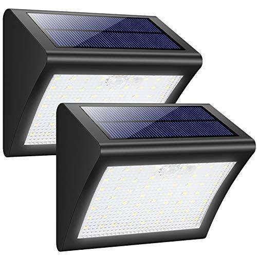 Luces Solares Exterior Trswyop 60 Led 2 Paquetes Luz Solar Con Sensor Movimiento 1800mah Wireles Lamparas Solares Para Exterior Focos Luces Solares Exterior