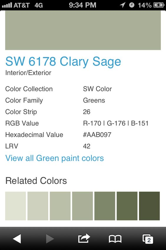 Paint Color For Hall Bathroom Clary Sage Sherwin Williams Decor Painting Bathroom