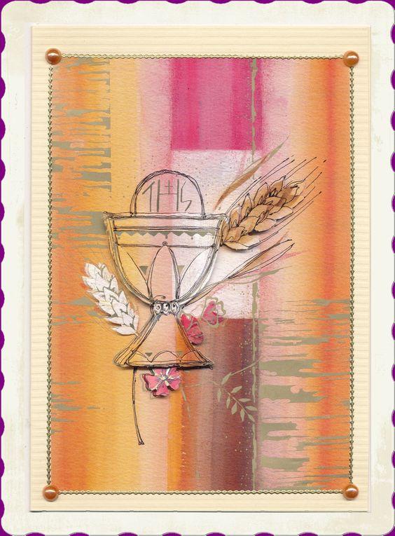 selbstgemachte Glückwunschkarte zur Kommunion http://de.dawanda.com/shop/sandras-bastelzauber