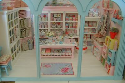 Miniature Cath Kidston shop - wonderful colours and tons of fun details.