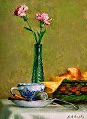 cuadros de flores pintadas al oleo sobre lienzo