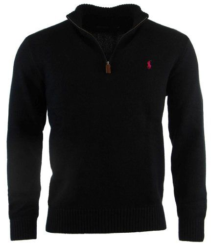 Polo Ralph Lauren Mens Half Zip Pullover Cotton Sweater