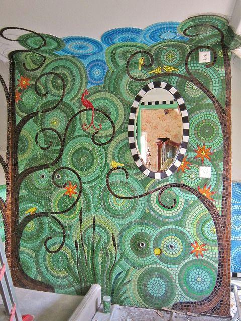 Mosaic Bathroom WIP | Flickr - Fotosharing!