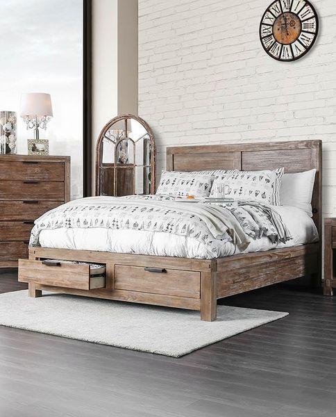 Wood Bedroom Furniture, Weathered Oak Bedroom Furniture