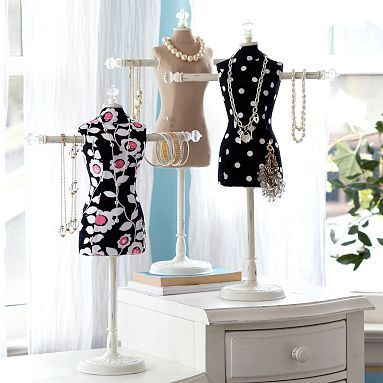 I love the Dress Frame Jewelry Holder, Natural Linen on pbteen.com