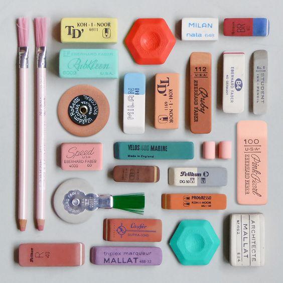 Vintage erasers #erasers #deskaccessories #homeoffice:
