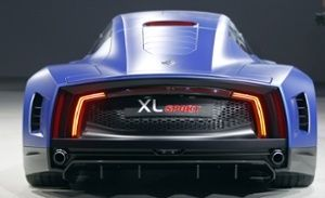 A Volkswagen XL sport is presented at the Volkswagen Group Night show prior to the opening of the Paris Motor Show on October 1, 2014 in Paris, France. The Paris Motor Show will showcase the latest models from the auto industry's leading manufacturers at the Paris Expo exhibition centre.