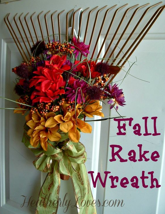 Fall Rake Wreath