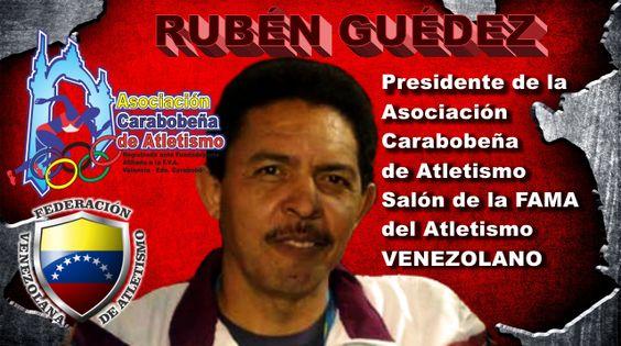 Ruben Guedez salon de la fama Atletismo Venezolano.  .