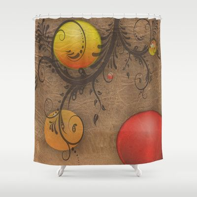Swirly  Shower Curtain by Chris Mccormick - $68.00