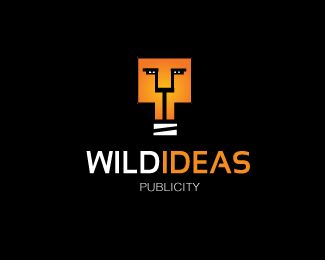 Wildideas is a #logo for an advertising agency with a light bulp/lion icon - designed by Ricardo Barros, Brazil