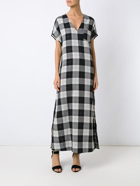 Osklen plaid maxi dress