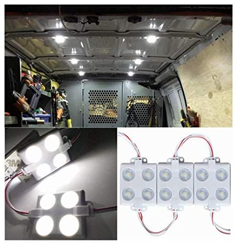 12v 40 Leds Van Interior Lights White Led Lamp Waterproof With Led Project Lens For Lwb Van Boats Caravans Traile Interior Lighting Waterproof Led Van Interior