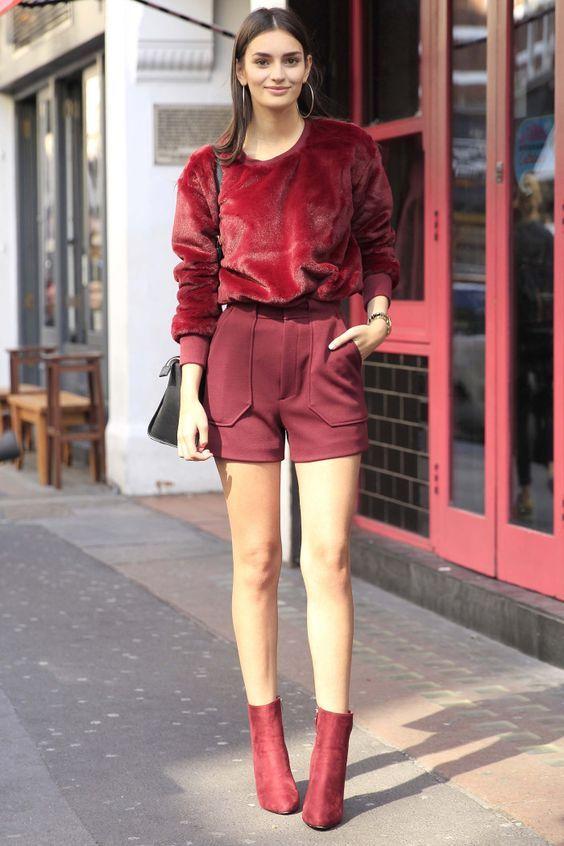 como usar bota vermelha em look monocromatico. como usar bota vermelha em diferentes ocasioes. look com bota vermelha. look inverno 2018. tendências inverno 2018. look monocromatico. como usar look vermelho.