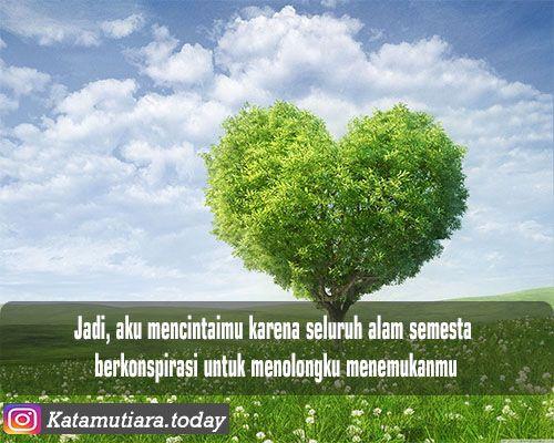 Mencintaimu Karena Seluruh Alam Semesta Dengan Gambar Alam