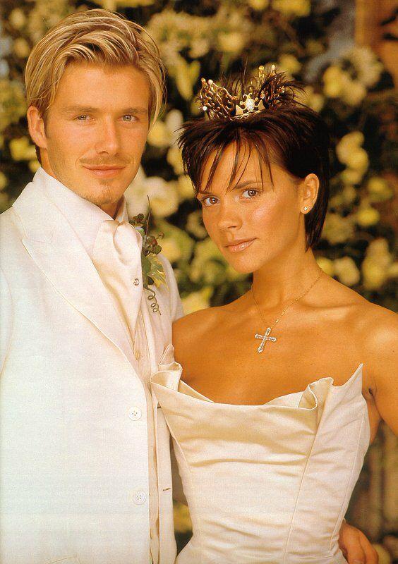 victoria beckham wedding photo