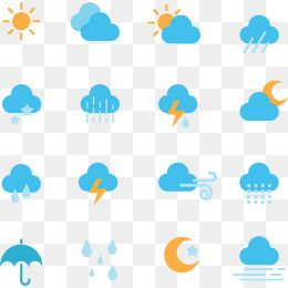 Weather Symbols Weather Icon Sunny Day Cloudy Day Png And Vector With Transparent Background For Free Download