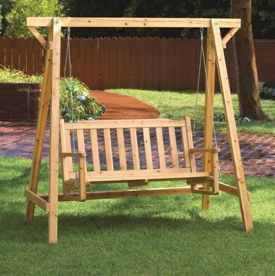 Diy wooden swing set plans free building refinishing diy for Log swing plans