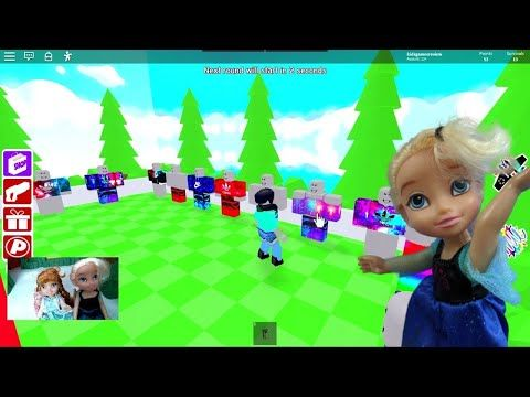 Elsa And Anna Plays Roblox Game Play Floor Is Lava Youtube