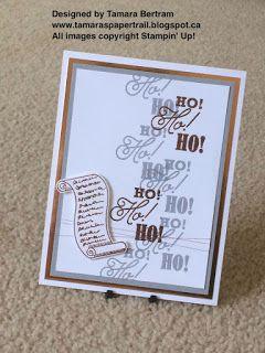 Tamara's Paper Trail: Ho Ho Ho! Greetings From Santa