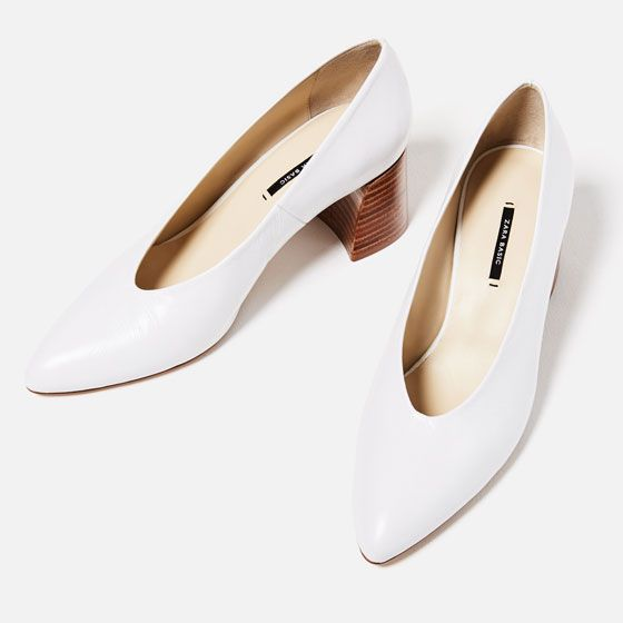 Image 3 of LEATHER MID HEEL SHOES from Zara: