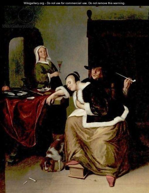 Omgeving Van Jan Steen Slapende Vrouw Aan Een Tafel Jaar Particuliere Verzameling Victorian Paintings Dutch Painters Art